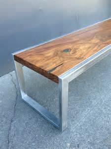Wood and Metal Coffee Table Furniture