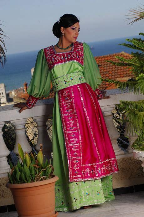 robe kabyle moderne en et vert le portail de la femme holidays oo