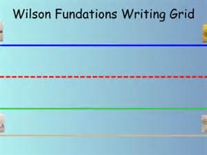 Wilson Fundations Writing Grid