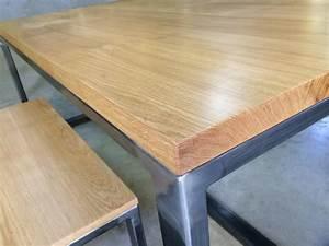 Plateau De Table : table plateau chene pn69 jornalagora ~ Teatrodelosmanantiales.com Idées de Décoration