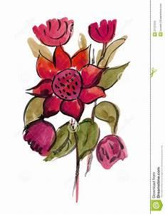 Blumen Bilder Gemalt : rosafarbene blumen gemalt im aquarell stock abbildung bild 27727012 ~ Orissabook.com Haus und Dekorationen
