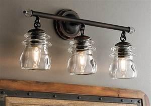 Spacious Bathroom Lighting Captivating Farmhouse Light