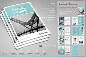 Corporate brochure brochure templates creative market for Corporate brochure template