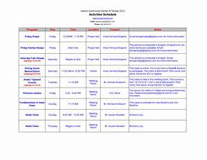 best photos of activity itinerary template sample travel With activity timetable template