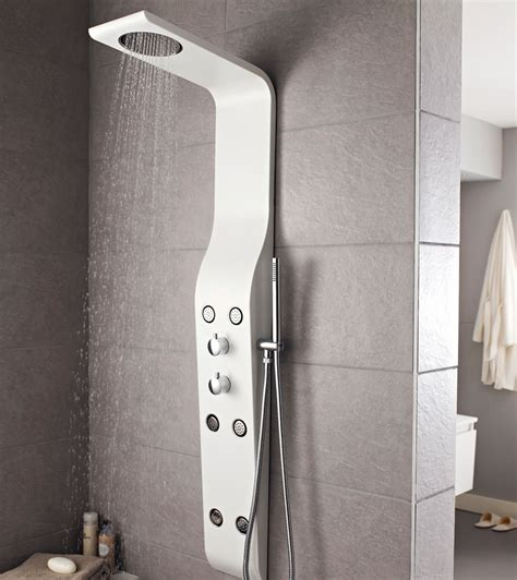 white shower panels hudson reed glacier white thermostatic shower panel as211