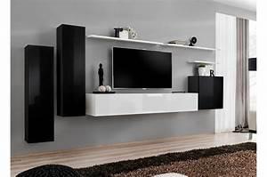 Meuble Tv Mural : meuble tv mural suspendu laqu costa 1 cbc meubles ~ Teatrodelosmanantiales.com Idées de Décoration