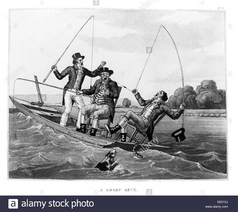 Brighton Fishing Boat Accident by 1800s Three 19th Century Men In Boat Fishing One Man