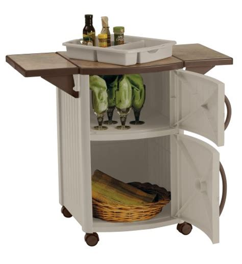 Suncast Patio Storage And Prep Station Bmps6400 by Suncast Outdoor Patio Dcp2000 Prep Station Serving Table