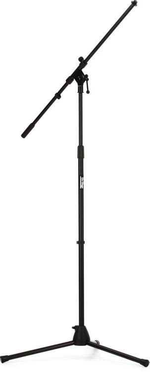 on stage stands ms7701b boom microphone stand black sweetwater