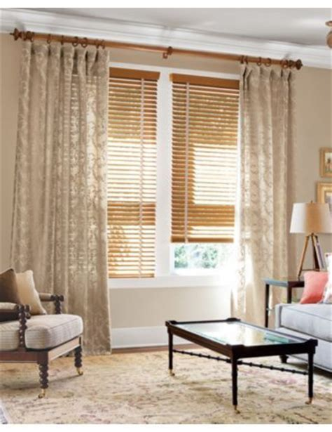 Blinds With Drapes - smith noble 2 quot wood blinds in honey oak 4484 soft