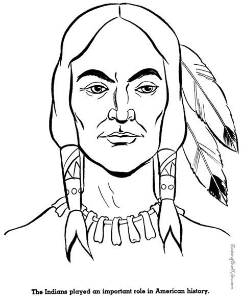 indian coloring pages american indian coloring pages 008