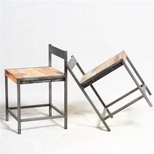 Chaise Industrielle Vintage : chaise industrielle fer et boisen vente chez orign 39 s maison ~ Teatrodelosmanantiales.com Idées de Décoration