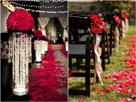 black and red wedding decor ideas deer pearl flowers