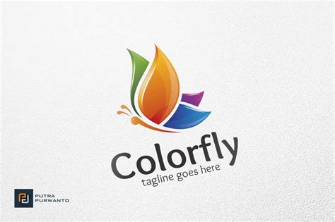 colorfly butterfly logo template logo templates