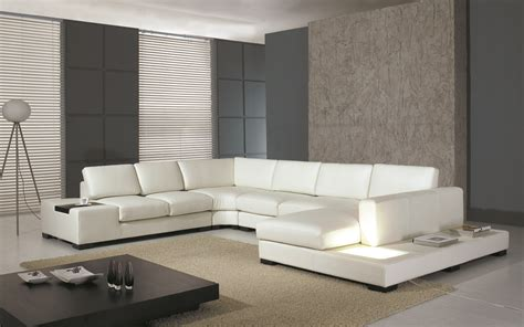 Modern White Leather Sofas by Modern White Bonded Leather Sectional Sofa T35