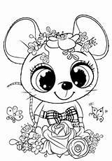 Coloring Mouse Cuties Flowers Bojanke Animal Preschool Bonton Printable Bontontv раскраски из категории все Slatkice Printables sketch template