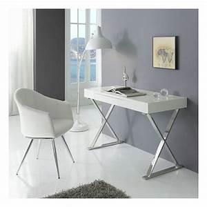Bureau Contemporain Design : bureau contemporain blanc chrome core zendart design ~ Teatrodelosmanantiales.com Idées de Décoration
