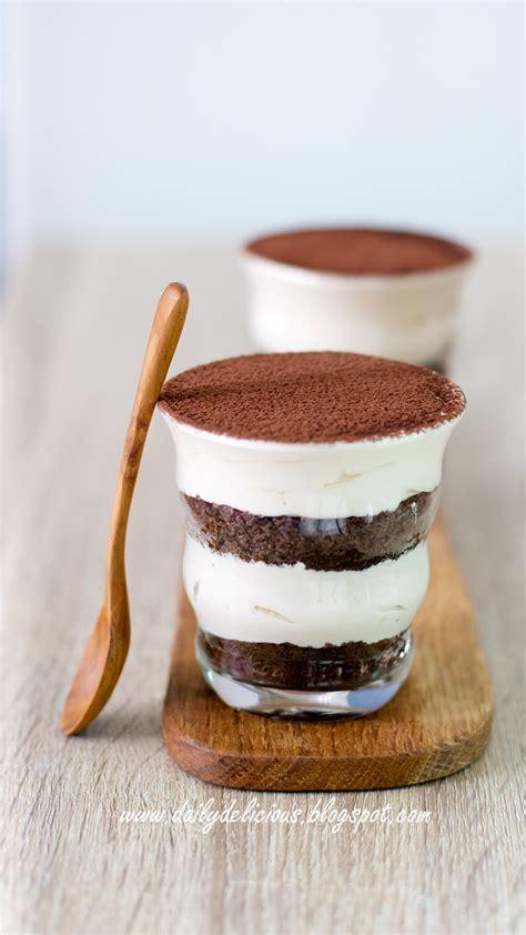 Treat yourself to the dessert classic tiramisu with zero calories! dailydelicious: Tiramisu (No cheese version): Easy happy treat!