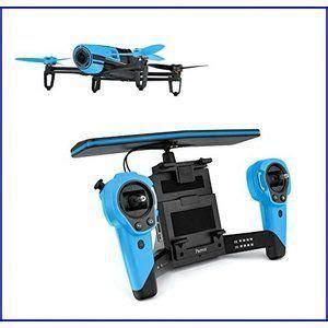 parrot bebop quadcopter drone  sky controller bundle blue bestvaluedronewithhdcamera