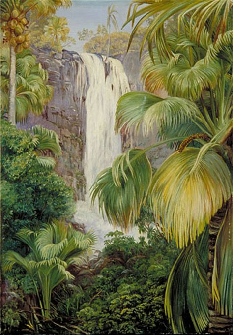 kew marianne north gallery painting  waterfall