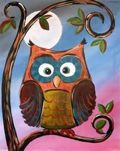 Acrylic Canvas Painting Ideas Owls