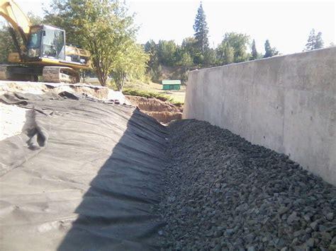 backfill retaining wall commercial municipal work hatter creek earthworks