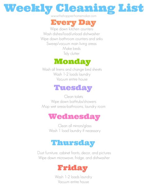 Daily Cleaning Schedule  The Happier Homemaker. Powerpoint Photo Album Template. Excel Project Timeline Template Free. Emerson College Graduate Programs. Oklahoma State University Graduate Programs. Average Debt Of College Graduate. Graduation Cords And Stoles. 7 Day Calendar Template. Michigan State University Graduate School