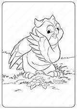 Coloring Disney Bambi Printable Owl Friend Cartoon Coloringoo Thumper Drawing Characters Animals Boys sketch template