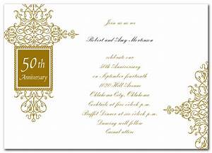 wedding invitation wording golden wedding anniversary With samples of golden wedding invitations
