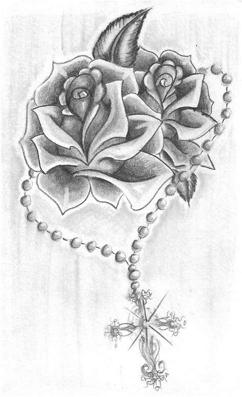 Rosary Roses by AlicornsAndUnigators.deviantart.com on @deviantART | Cage tattoos, Ribbon