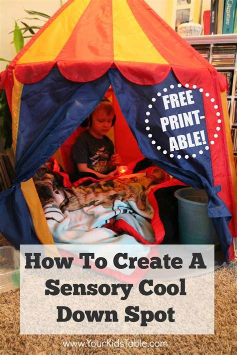 create  quick  easy sensory tent  kids table