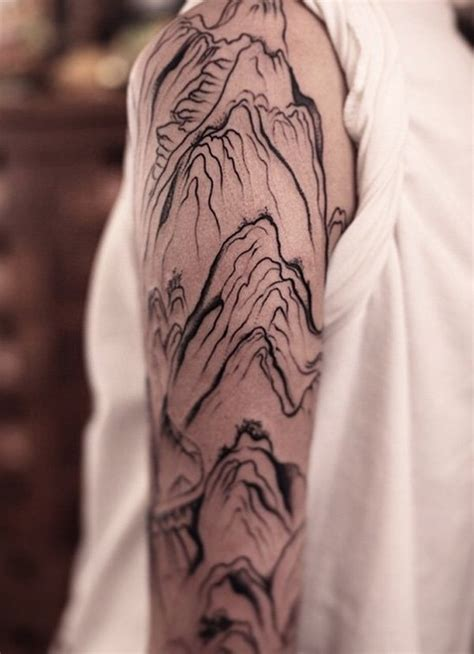 awesome mountain tattoo designs  men  women