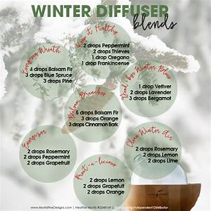 Names For Cleaning Services Winter Diffuser Essential Oil Blends Free Printable