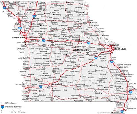 map  missouri cities missouri road map