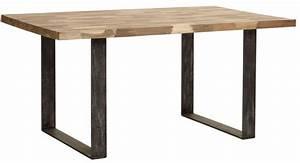 table salle a manger table mosaique pied metal et teck With salle À manger contemporaineavec chaise pied metal noir