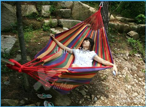 Wholesale Cheap New Double Camping Hammock Swing Outdoor