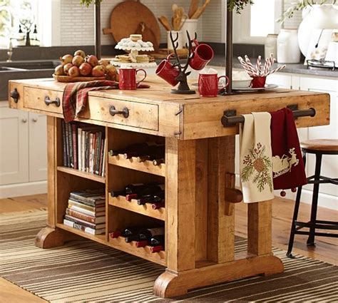 solid wood kitchen island cart pottery barn kitchens marceladick com