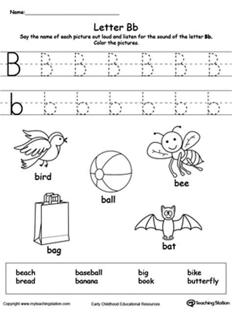 letter b printable alphabet flash cards for preschoolers
