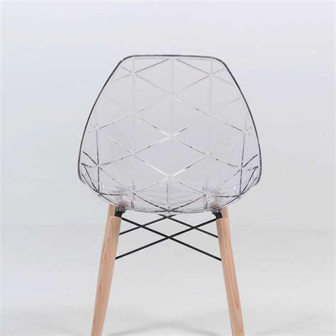 le bois de la chaise chaise design coque transparente et bois prisma 4