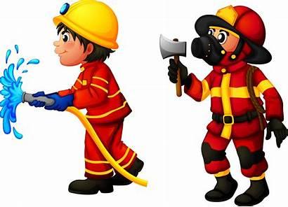 Firefighter Clipart Fire Clip Fireman Cartoon Fighters