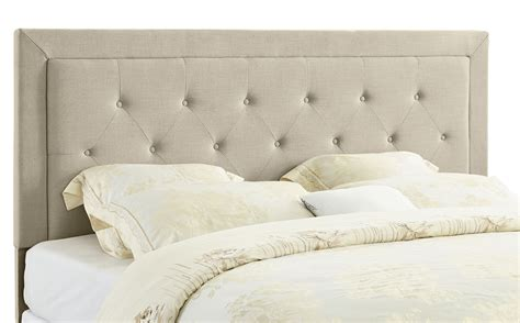 linon clayton headboard king size natural linen 13 c187