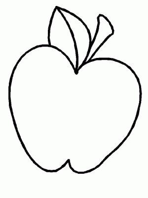 dibujo de manzana  colorear  pintar