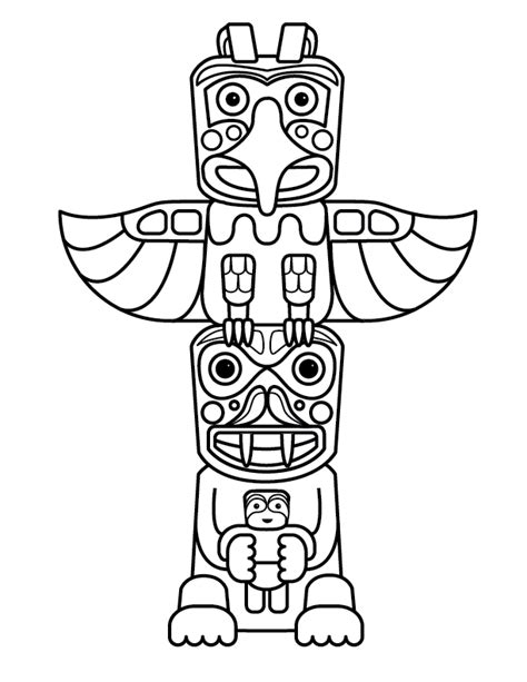 Totem Pole Bear Template by Free Printable Totem Pole Coloring Pages For Kids