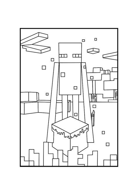 Kleurplaat Minecraft End by Enderman Minecraft Coloring Pages Free Printable