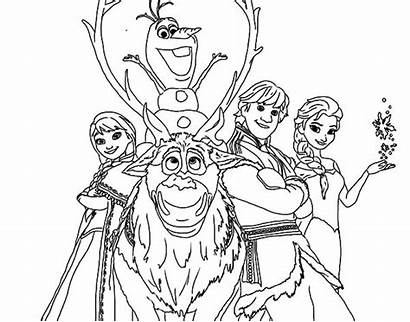 Frozen Coloring Characters Pages Kristoff Anna Drawing