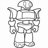 Coloring Robots Robot Pages Popular sketch template