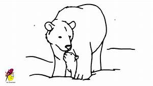 Cute Polar Bear Drawing Polar Bear With Baby Bear - Cute ...