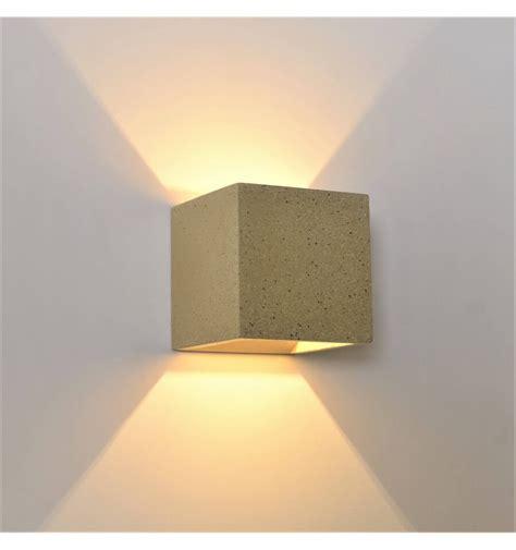 terra cube concrete sandy wall light kosilight uk
