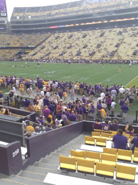 stadium tiger section row rateyourseats recommendations ratings sections