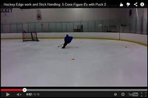 Power Skating: 5 Cone Figure 8's With Puck | Hockey Player ...